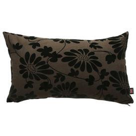 image-Alonso Embossed Lumbar Cushion Ebern Designs Colour: Brown