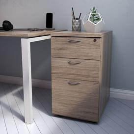 image-Roiguez 3 Drawer Filing Cabinet Latitude Run Colour: Grey Oak