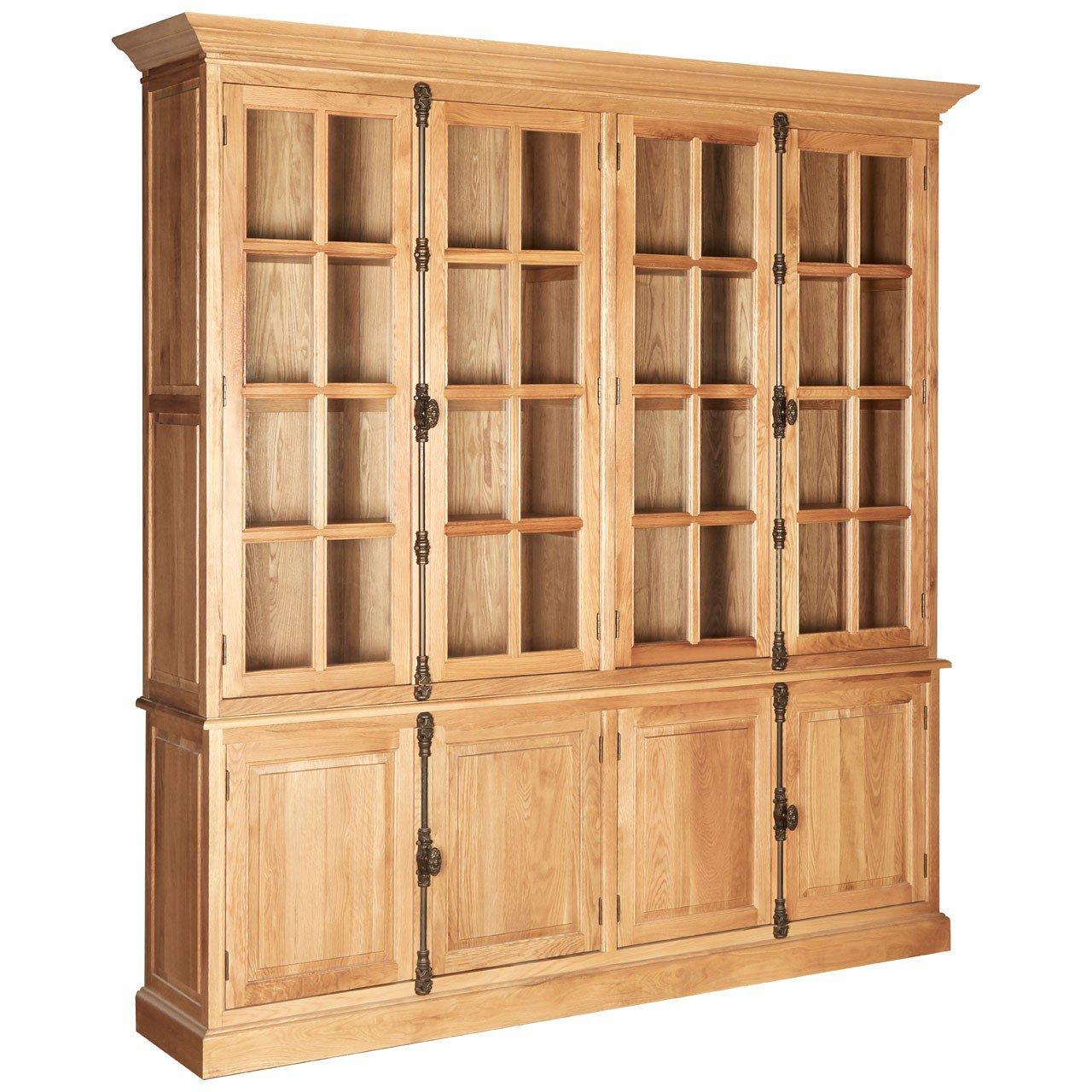 image-Premier Lyon Oak Furniture Wide Display Cabinet
