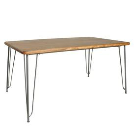 image-Robin Industrial Dining Furniture Retro 160cm Dining Table Plain Top