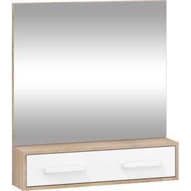 image-Sanuary Dresser Mirror Mercury Row Finish: Oak Sonoma/White