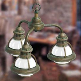image-Faro 3 Light Outdoor Pendant Moretti Luce Finish: Auburn antique brass
