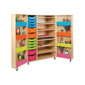 image-Bubblegum Art Storage Cupboard, Japanese Ash, Free Standard Delivery