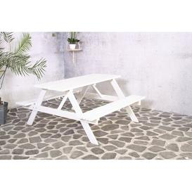 image-Colville Wooden Picnic Bench Sol 72 Outdoor Tabletop colour: White