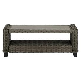 image-Stacia Aluminium and Rattan Coffee Table Sol 72 Outdoor
