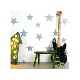 image-Kids Star Design Wallpaper in Stellar Blue & White
