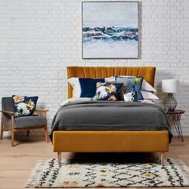 image-Lucille Upholstered Bed Frame Super King 180cm x 200cm End Lift