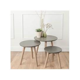 image-Spider Faux Concrete Nest of 3 Tables
