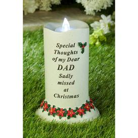 image-Christmas Memorial Candle Dad