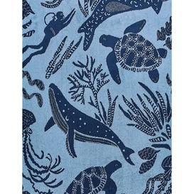 image-M&S Pure Cotton Under The Sea Towel - FACE - Blue Mix, Blue Mix