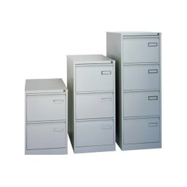 image-Next-Day Bisley Executive PSF Filing Cabinet, Grey, Free  Delivery