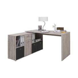 image-Lex L-Shape Desk Office Suite Symple Stuff Colour: Sand oak