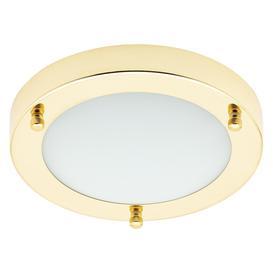 image-Mari Small Flush Bathroom Ceiling Light - Brass