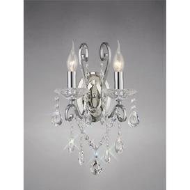 image-2-Light Candle Wall Light Willa Arlo Interiors Finish: Polished Chrome