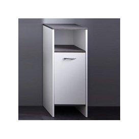 image-Matis Modern Bathroom Cabinet In White And Smoky Silver