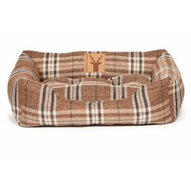 image-Newton Truffle Snuggle Bolster Cushion in Brown Danish Design Size: 71 cm W