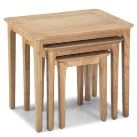 image-Wardle Wooden Set Of 3 Nesting Tables In Crafted Solid Oak