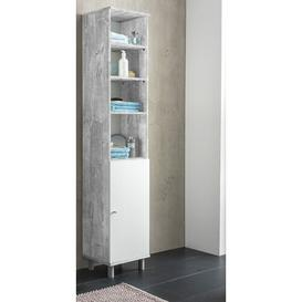 image-Mathieu 35 x 179cm Free-Standing Bathroom Cabinet Mercury Row