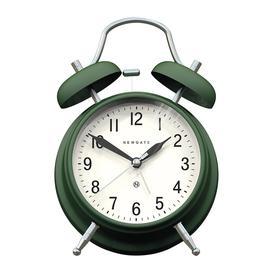 image-Newgate Clocks - Brick Lane Alarm Clock - Priceless Green/Chrome