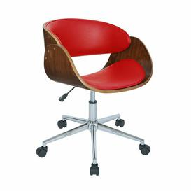 image-Meagan Desk Chair Corrigan Studio Colour (Upholstery): Red