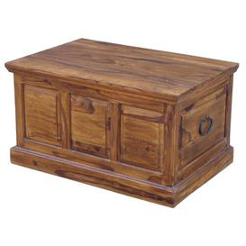 image-Trenton Wooden Panel Large Blanket Box Marlow Home Co.