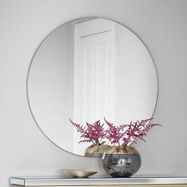 image-Designer Round Mirror in Champagne