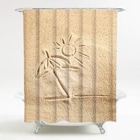 image-Sunshine Polyester Shower Curtain