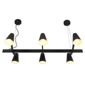 image-Dane 6 - Light Kitchen Island Pendant Corrigan Studio Finish: Black