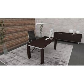 image-Janell Executive Desk Ebern Designs Colour: Wenge
