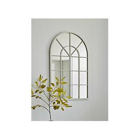 image-Cream Arched Window Mirror