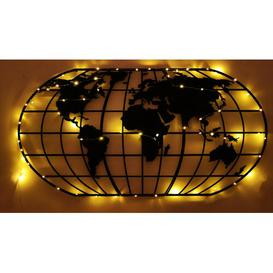 image-World Map Globe Wall Décor Borough Wharf