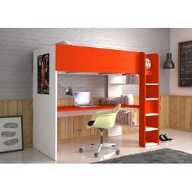 image-Villalobo Single High Sleeper Bed with Shelves