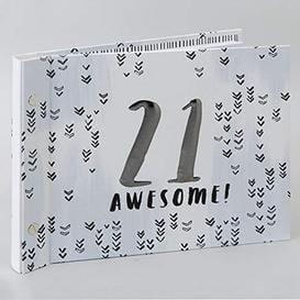 image-Luxe Male Birthday Photo Album & Guest Book - 21