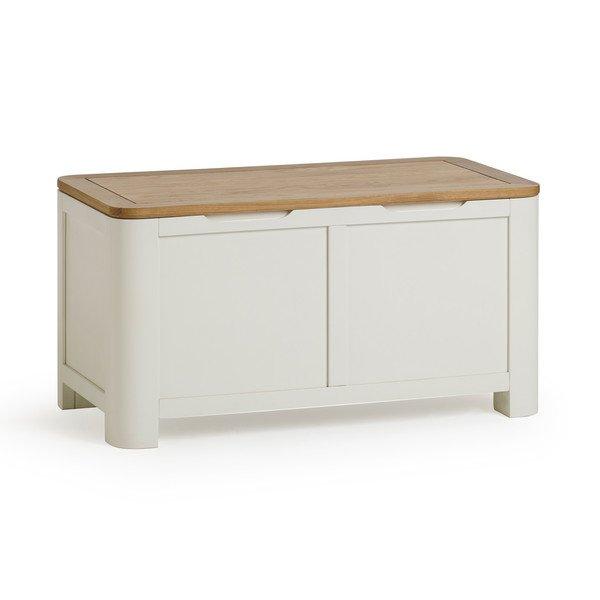 image-Handmade 100% Solid Natural Oak & Painted Blanket Boxes - Blanket Box - Hove Range - Oak Furnitureland