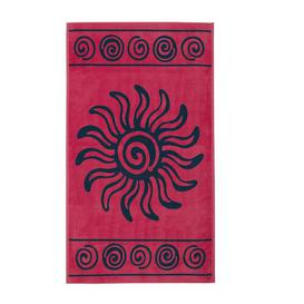 image-Tropical Beach Towel Delindo Lifestyle Colour: Red/Pink