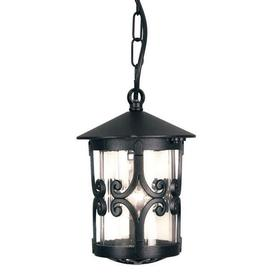 image-Elstead BL13B Hereford exterior black porch chain lantern, IP23