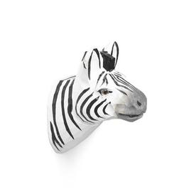 image-Animal Hook - / Zebra - Hand sculpted by Ferm Living Multicoloured