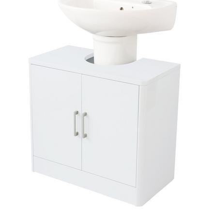 image-Sicily White Bathroom Vanity Unit White