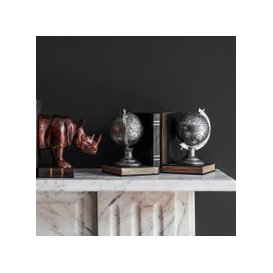 image-Atlas Pair Of Globe Bookends