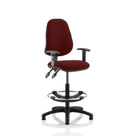 image-Eclipse Ergonomic Office Chair Home & Haus Colour: Maroon