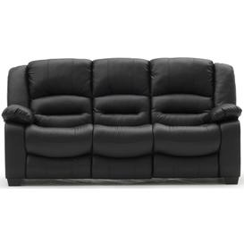 image-Vida Living Barletto Black Faux Leather 3 Seater Sofa