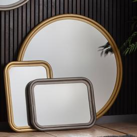 image-Gallery Eindhoven Brass Large Round Wall Mirror