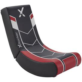 image-X ROCKER Video Floor Rocker Gaming Chair - Black & Red, Black