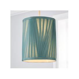 image-Eliza V Pleat 20cm Cylinder Shade Green