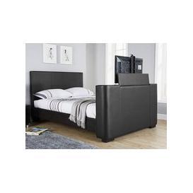 image-Milan Bed Company Newark TV Bed,Black