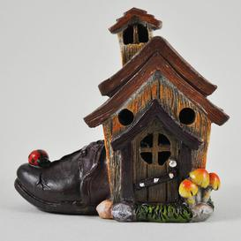 image-Mystical Cobblers Shoe Fairy Garden House with LED Light Decoration Sol 72 Outdoor