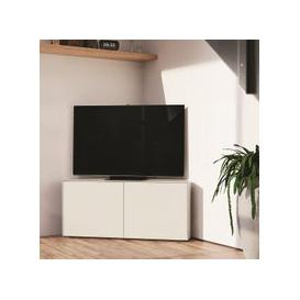 image-Nexus Corner TV Stand In White Gloss With Wireless Charging