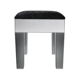 image-Salerno Smoked and Clear Mirrored Dressing Stool