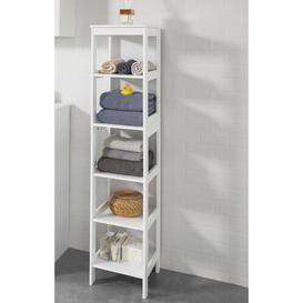 image-Jewett 30cm x 139cm Free-Standing Bathroom Shelves Brambly Cottage