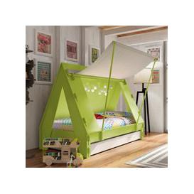 image-Mathy by Bols Kids Tent Cabin Bed with Trundle Drawer - Mathy Cement Grey